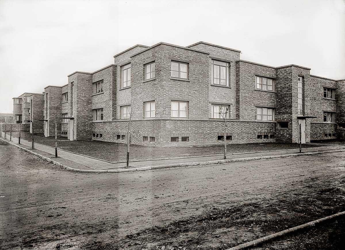 "Die Südwestecke von ""Neu-Jerusalem"" um 1930. Foto: Leske 2016, S. 95–111."