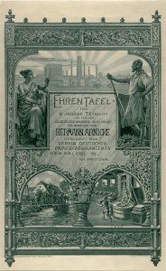 Die Ehrentafel für Betriebsangehörige in den 1920er/30er Jahren zeigt die Entwicklung der Papierherstellung. (Stadtarchiv Halle).