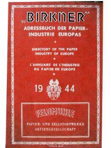 Bild 11 Eintrag in ein europäisches Adressverzeichnis. Sammlung Heimatstube Calbe (Saale) (außen).