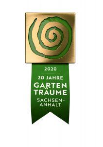 Logo 20 Jahre Gartenträume Sachsen-Anhalt