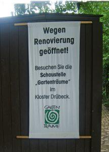 """Insbesondere in den ersten """"Gartenträume""""-Jahren fanden in zahlreichen Parks umfangreiche Sanierungen statt. Hier: Klostergärten Drübeck 2005. Foto: Gartenträume Sachsen-Anhalt e. V."""
