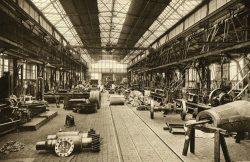 Blick in die historische Hauptwerkstatt, Geschichts- und Forschungsverein WASAG Haupt-Werk Reinsdorf