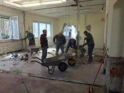 Bei den Sanierungsarbeiten, Geschichts- und Forschungsverein WASAG Haupt-Werk Reinsdorf