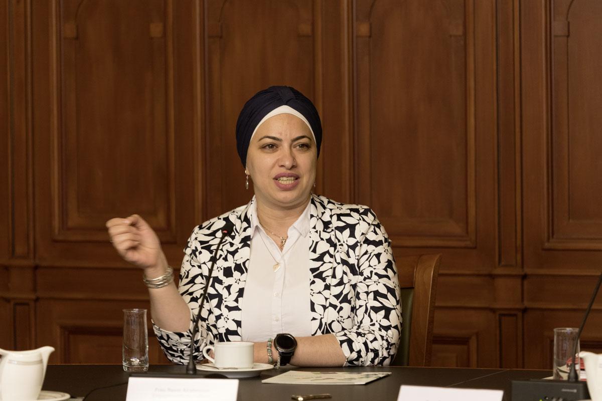 Reem Alrahmoun, Engagementbotschafterin Kultur. Foto: Matthias Behne