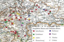 Verteilung Ritters Aktivitäten im Land. Karte: Martin Beitz