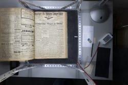 Die Zeitung von 1918 verkündet fortlaufend Erfolge im Krieg. Es gibt wenig regionale Informationen. Foto: Matthias Behne